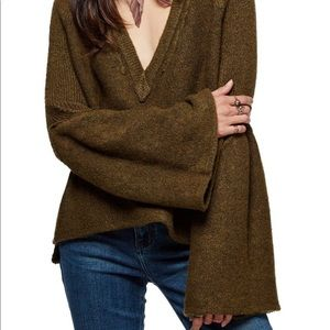 NWT Free People Lovely Lines Sweater S